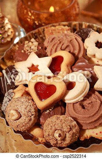 Delicious Christmas cookies - csp2522314