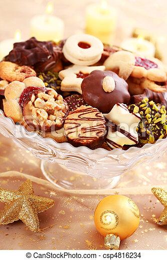 Delicious Christmas cookies - csp4816234