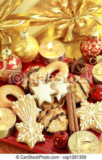 Delicious Christmas cookies - csp1261359