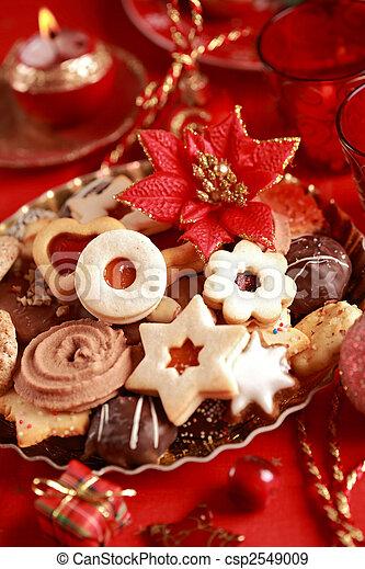 Delicious Christmas cookies - csp2549009