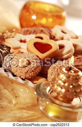 Delicious Christmas cookies - csp2522313