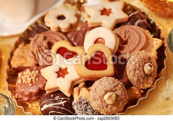 Delicious Christmas cookies - csp2603083