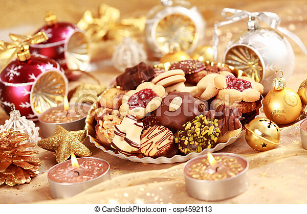 Delicious Christmas cookies - csp4592113
