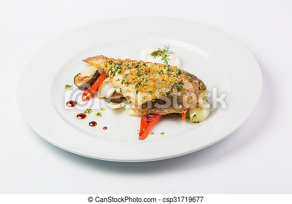 delicious food on a plate - csp31719677
