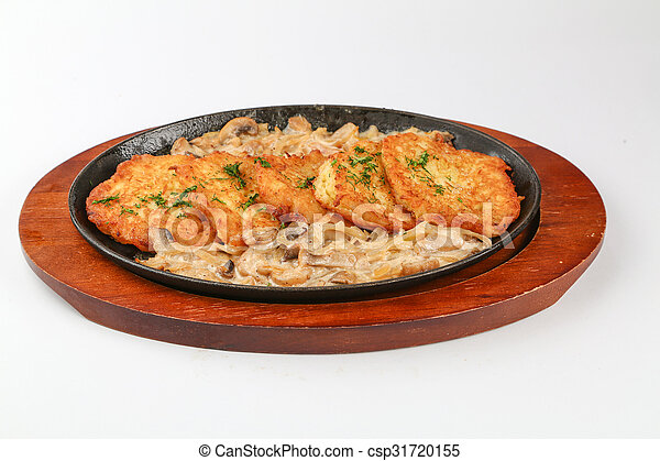 delicious food on a plate - csp31720155