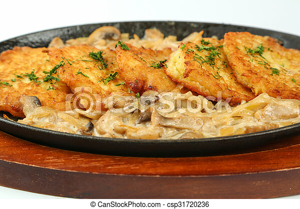 delicious food on a plate - csp31720236