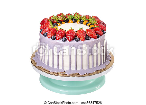 Peachy Delicious Fruit Cake Made With Strawberries And Berries On Personalised Birthday Cards Veneteletsinfo