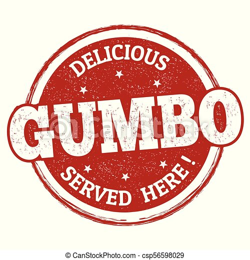 Delicious Gumbo sign or stamp - csp56598029