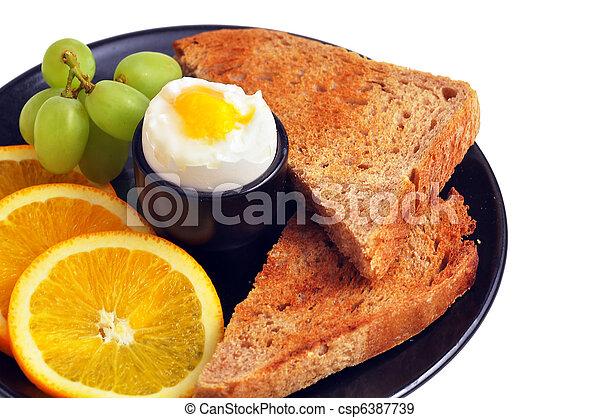 Delicious healthy breakfast - csp6387739
