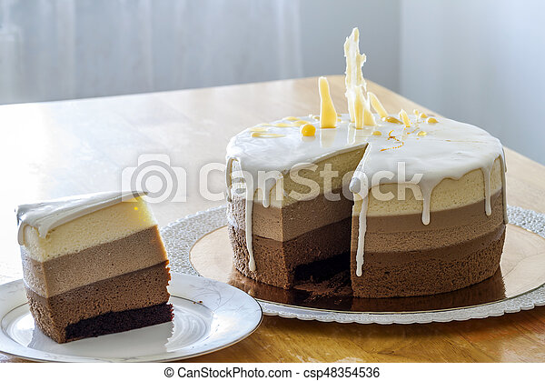 Astounding Delicious Homemade Chocolate Marble Birthday Cake Decorated With Funny Birthday Cards Online Elaedamsfinfo