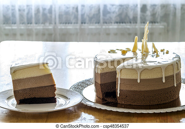 Surprising Delicious Homemade Chocolate Marble Birthday Cake Decorated With Funny Birthday Cards Online Elaedamsfinfo