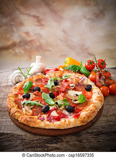 Delicious italian pizza - csp16597335