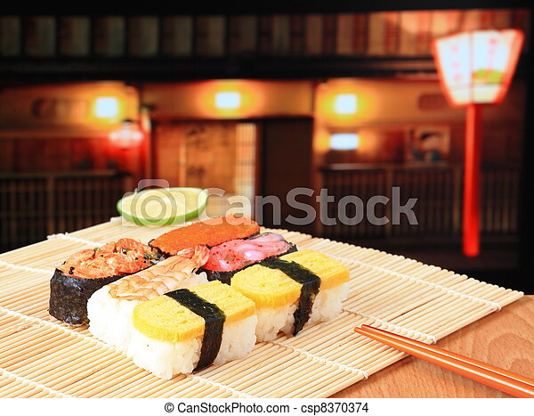 delicious Japanese sushi - csp8370374