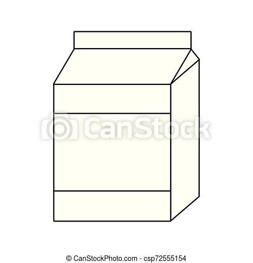 delicious milk box isolated icon - csp72555154