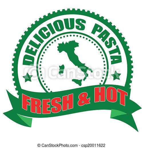 delicious pasta stamp - csp20011622