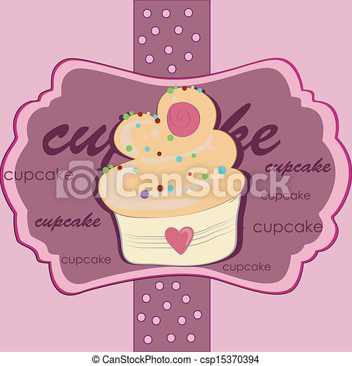 delicious pink cupcake - csp15370394