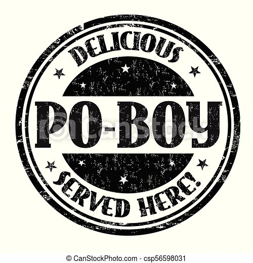 Delicious Po-Boy sign or stamp - csp56598031
