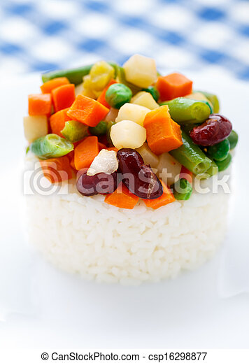 Delicious rice with vegetables - csp16298877