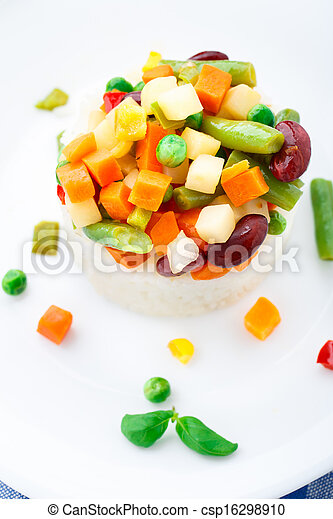 Delicious rice with vegetables - csp16298910