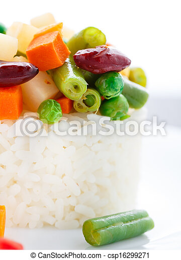 Delicious rice with vegetables - csp16299271