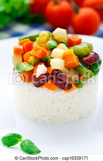 Delicious rice with vegetables - csp16339171