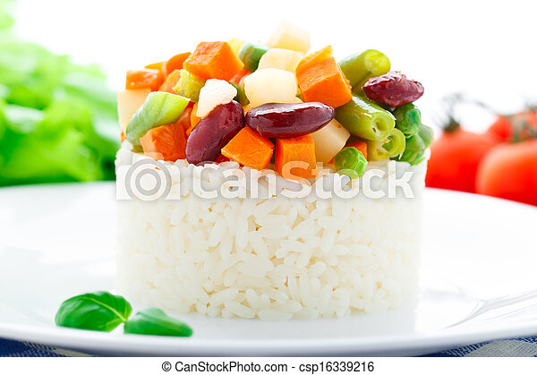 Delicious rice with vegetables - csp16339216