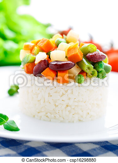 Delicious rice with vegetables - csp16298880