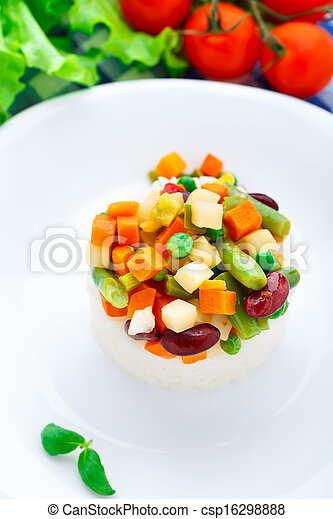 Delicious rice with vegetables - csp16298888