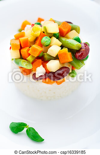 Delicious rice with vegetables - csp16339185