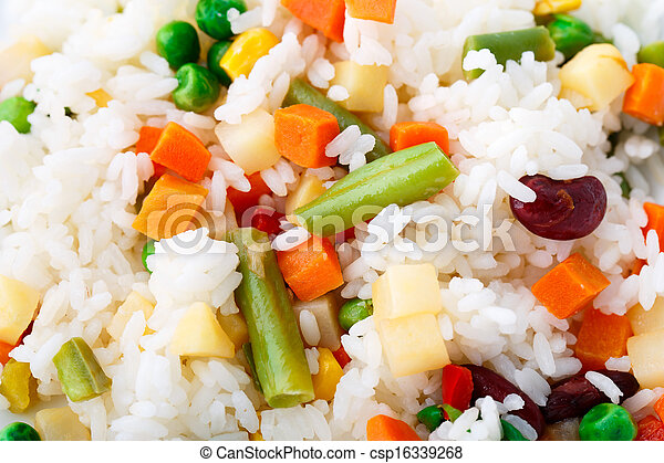 Delicious rice with vegetables - csp16339268