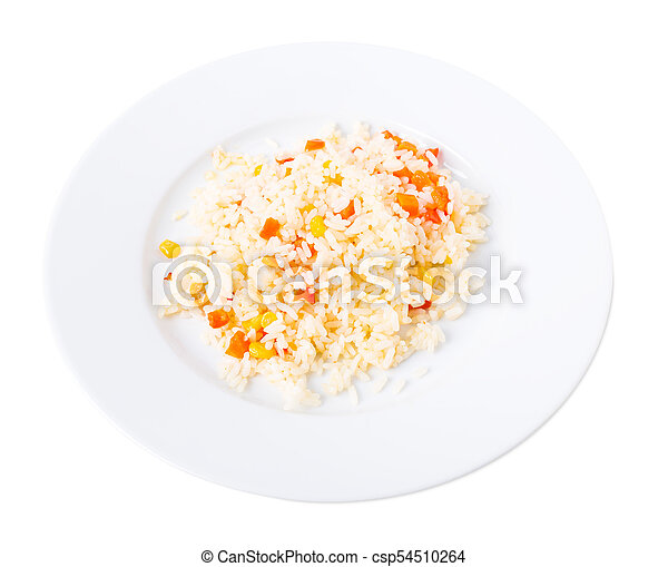 Delicious rice with vegetables. - csp54510264