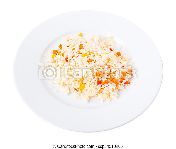 Delicious rice with vegetables. - csp54510265