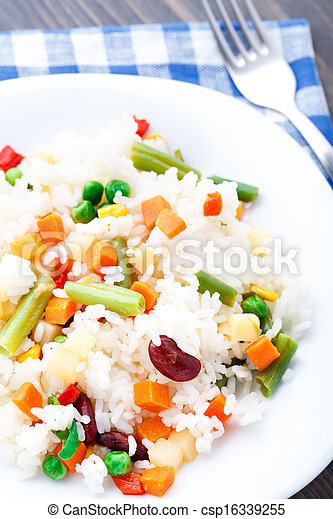 Delicious rice with vegetables - csp16339255