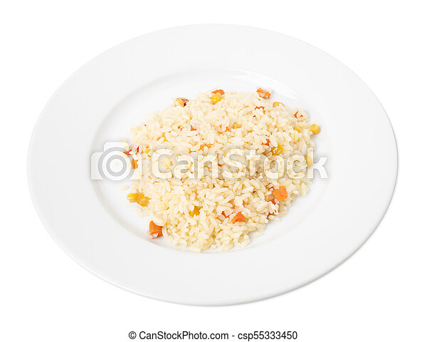 Delicious rice with vegetables. - csp55333450
