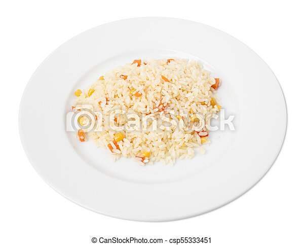 Delicious rice with vegetables. - csp55333451