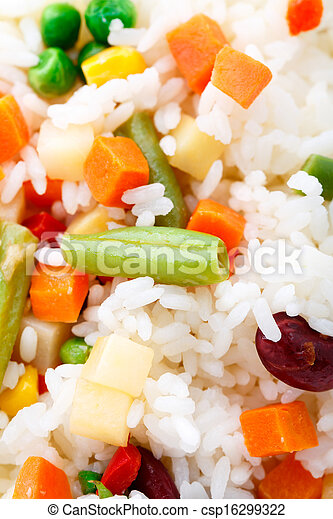 Delicious rice with vegetables - csp16299322