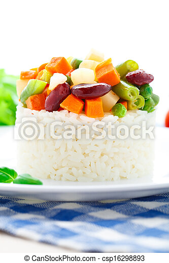 Delicious rice with vegetables - csp16298893