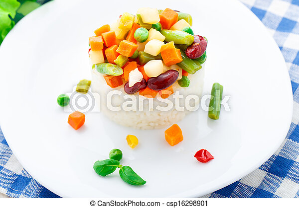Delicious rice with vegetables - csp16298901