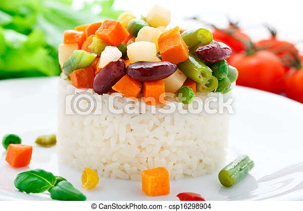 Delicious rice with vegetables - csp16298904