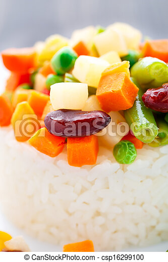 Delicious rice with vegetables - csp16299100