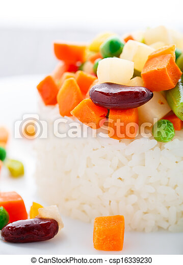 Delicious rice with vegetables - csp16339230