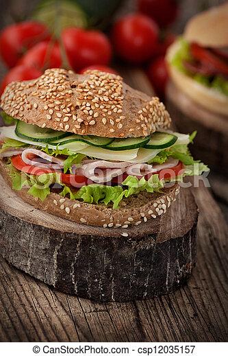 Delicious sandwich - csp12035157