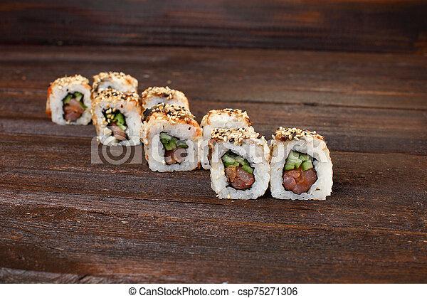 delicious sushi roles - csp75271306