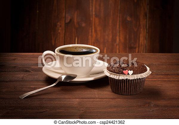 Delicious tasty cupcake - csp24421362