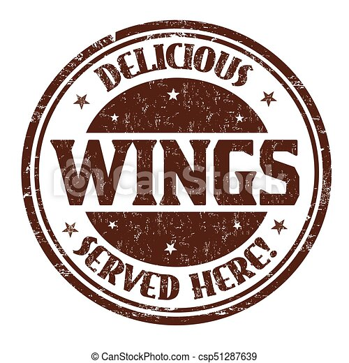 Delicious wings sign or stamp - csp51287639