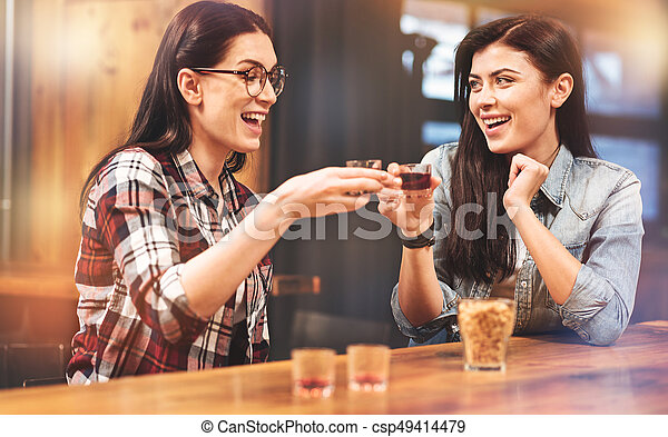 Best friends girls touching each other