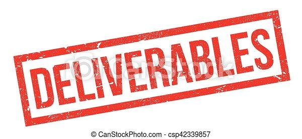 Deliverables rubber stamp - csp42339857