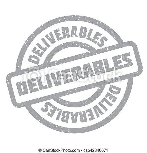 Deliverables rubber stamp - csp42340671
