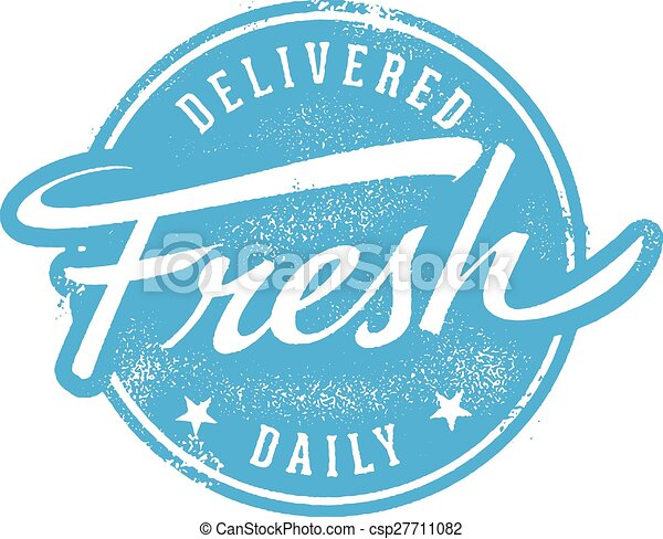 Delivered Fresh Daily Stamp - csp27711082