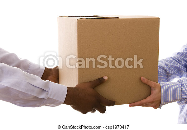 delivering a package - csp1970417